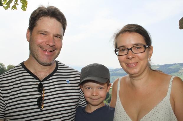Familie Wolf-Blunschi aus Zürich machte in der Ferienwohnung auf Schloss Heidegg Urlaub.