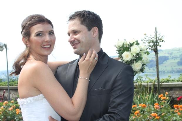 Das Hochzeitspaar: Manuela Bellwald und Carlo Anthamatten aus Schötz.
